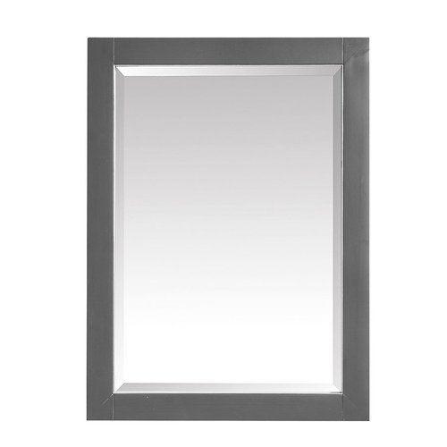 Avanity 24 Inch Beveled Mirror For Allie Austen Twilight Gray