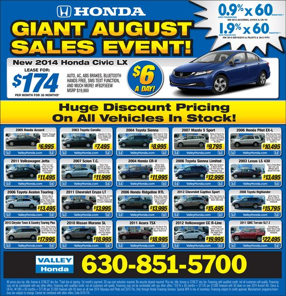 car deals for july 4th 2015