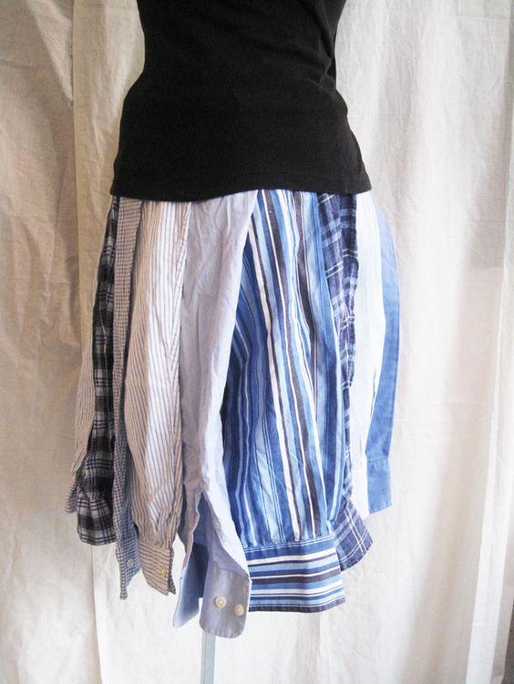 Röcke - Hemdärmelrock - ein Designerstück von redesign bei DaWanda