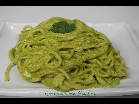 Spaghetti Verde Con Chile Poblano Y Queso Philadelphia Don