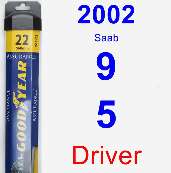 Driver Wiper Blade for 2002 Saab 9-5 - Assurance