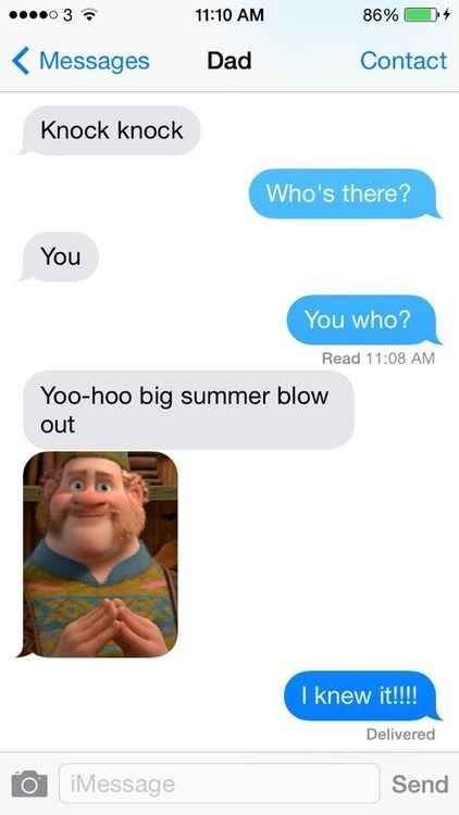 This cool Disney dad... | 29 Parents Who Are Clearly Way Better At Texting Than Their Kids