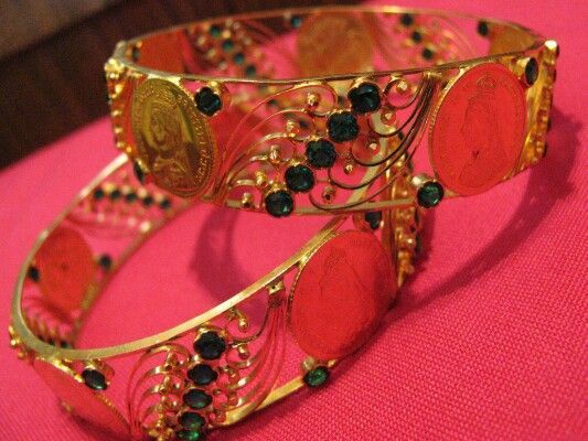 Coin Bangles Goan Gold Pattern Pinterest Coins And