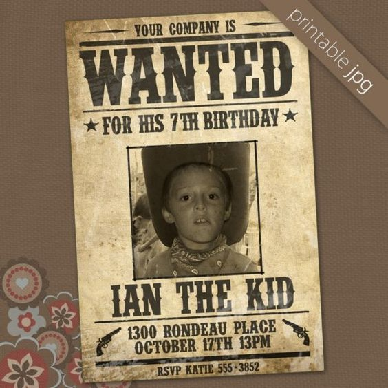 Printable wanted poster birthday invitation by sueniosencantados - printable wanted posters