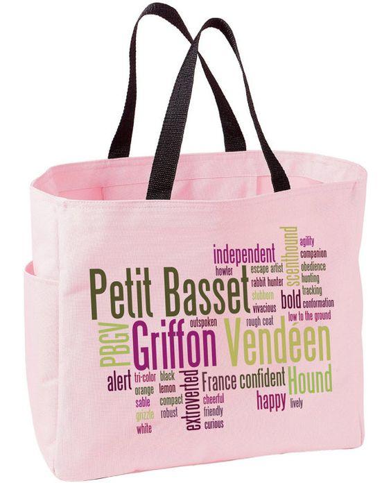 Petit Basset Griffon Vendeen Tote Bag by WryToastDesigns on Etsy, $19.99