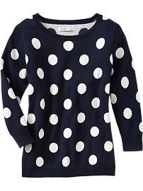 Old Navy Pullover ~ super cute polka dots!