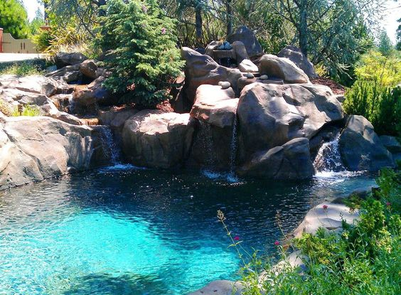 rock style pool by Natural Design Swimming Holes & Waterfalls ...