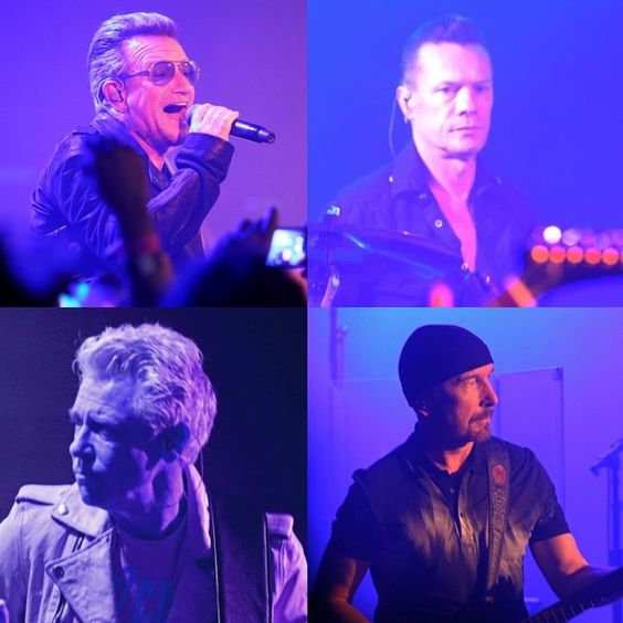 #U2 Live at The Roxy #U2Roxy #U2ieTour @theroxy #U2LiveAtTheRoxy @U2 #Bono #AdamClayton #LarryMullenJr #TheEdge #LA #LosAngeles #Rock #rockstar #U2KROQ