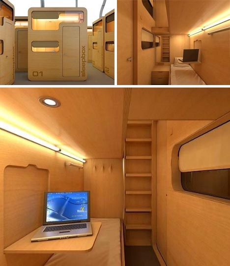 Sleep box modular office pod business travel bedroom for Office nap pod