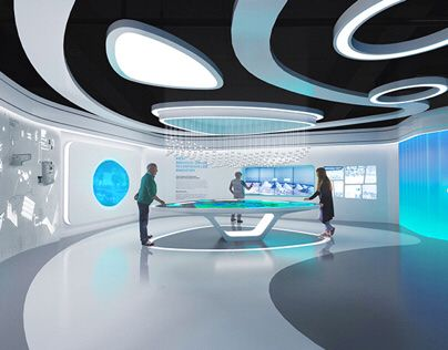 China ENFI Enterprise exhibition hall on Behance | Showroom interior  design, Exhibition stand design, Design museum
