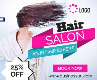 Hair Salon Banner Ad Animated Google Ad Templates Hair Salon Banner Ads Salons