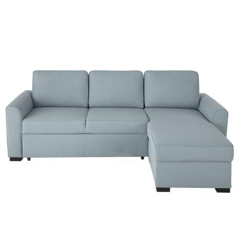 Blue Grey 3 4 Seater Corner Sofa Bed Living Room In 2019