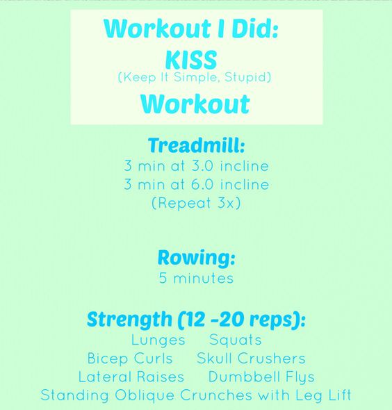 Up for today's #FBC challenge? Try the KISS workout! (Note: If you don't have equipment or can't make it to the gym, sub another form of cardio or do three sets of the strength moves instead!)
