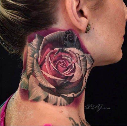 Neck Tattoo by Phil Garcia