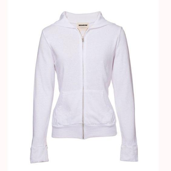 Monrow White Basic Hoodie NWT size Medium Monrow Tops Sweatshirts & Hoodies