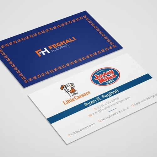 Design A Modern Business Card For A Multi Brand Franchisee Business Card Contest Ad Design Modern Business Cards Business Card Branding Custom Business Cards