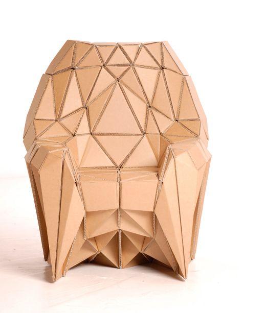 Muebles de cartón: Cardboard Furniture, Lazerian Cardboard, Armchair Lazarian, Lazerian Bravais, Cardboard Chair, Furniture Design, Eyecatching Chairs