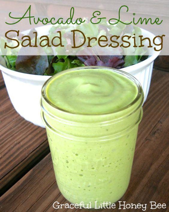 Avocado & Lime Salad Dressing | Recipe | Honey bees, Honey ...