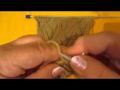 Узоры спицами. АЖУРНЫЕ ДОРОЖКИ. Вязание на спицах # 324 - YouTube