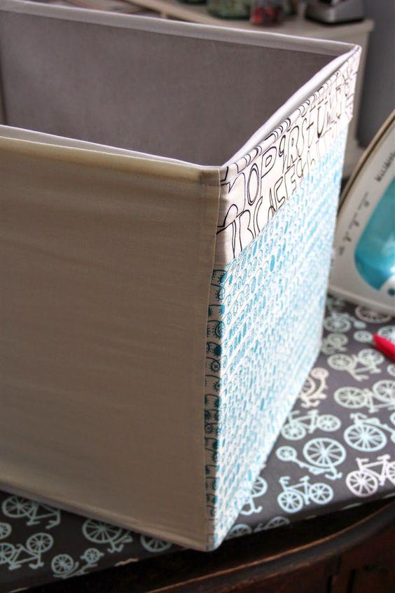mit stoff bedeckt aufbewahrungsboxen and ikea on pinterest. Black Bedroom Furniture Sets. Home Design Ideas