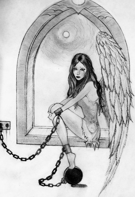 Angels Drawings | angel pencil sketch by a fragile smile traditional ...