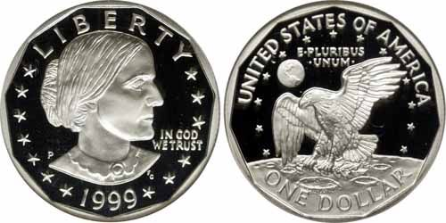 1999 D Susan B Anthony Dollar Value Coin Helpu Susan B Anthony Anthony Coins