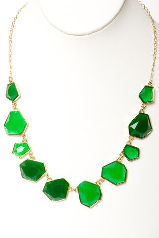 Just Enough Emerald Necklace