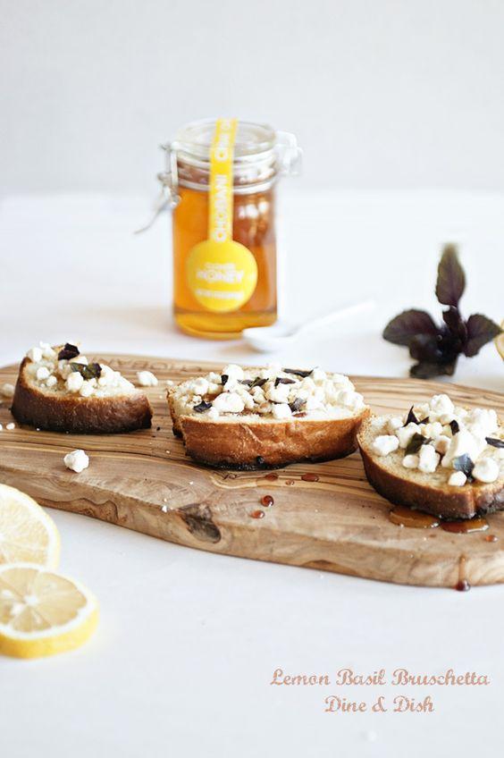 Over 30 recipes featuring LEMON, including this simple Lemon Basil Bruschetta appetizer!