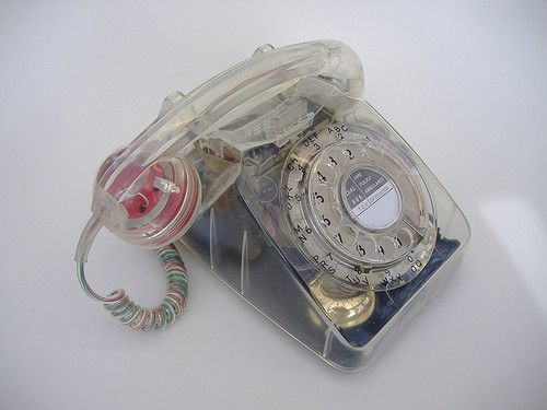 Teléfono transparente: Telee Phones, Land Line Telephones, Photo