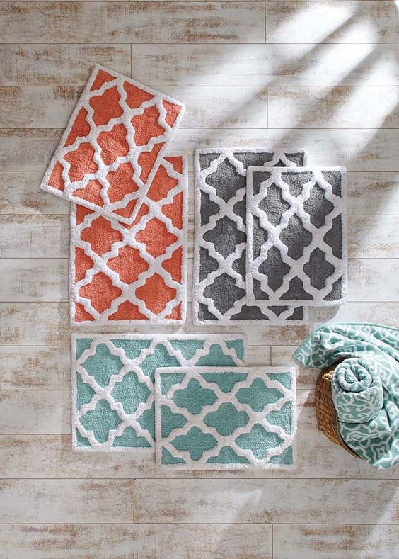 Bath rugs bath mats and better homes and gardens on pinterest for Better homes and gardens bathroom rugs