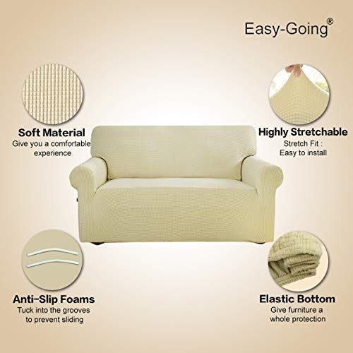 Easy Going Stretch Sofa Slipcover 1 Piece Couch Sofa Cover Furniture Protector Soft With Elastic Bottom For Kids Spandex Jacquard Fabric Small Checks Sofa Ivor In 2020 Slipcovered Sofa Sofa Covers Furniture Protectors