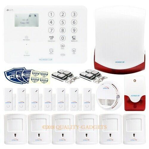 Ebay Sponsored Homsecur Systeme D Alarme Cambrioleur Sans Fil 4g 3g Gsm Lcddetecteur De Fumee Systeme Alarme Cambrioleur Detecteur De Fumee