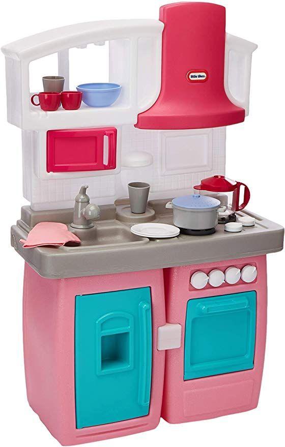 Amazon Com Little Tikes Bake N Grow Kitchen Amazon Exclusive Toys Games Kids Kitchen Toddler Kitchen Set Chef Kitchen Decor
