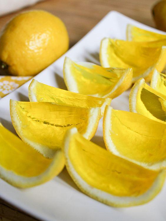 Lemon Meringue Jello Shots-they're pretty enough to try a non-alcohol version