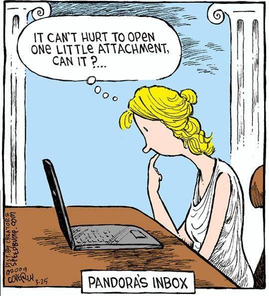 Pandora's Box Computer Humor https://www.facebook.com/WerewolfNightsBook
