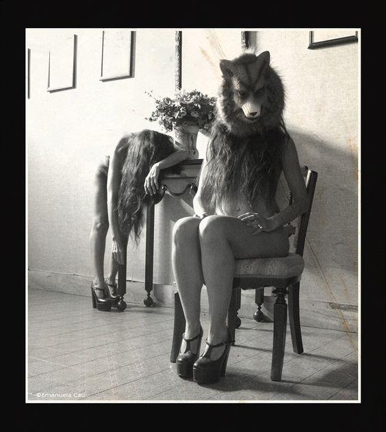 """© Emanuela Cau autoportrait From the serie: """"Le loup"""""""