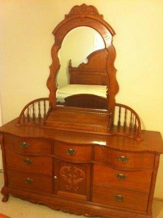Lexington Victorian Sampler Collection Door Triple Dresser