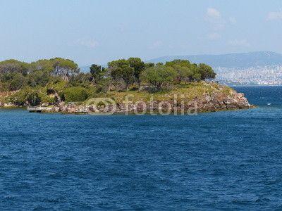 Baumlandschaft auf den Prinzeninseln im Marmarameer bei Istanbul in der Türkei