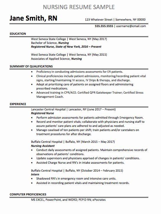 Nursing Clinical Experience Resume Luxury Registered Nurse Resume Sample Registered Nurse Resume Nursing Resume Examples Nursing Resume