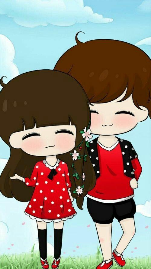 60 Cute Love Couple Phone Wallpapers Cute Love Cartoons Cute Couple Wallpaper Cute Chibi Couple