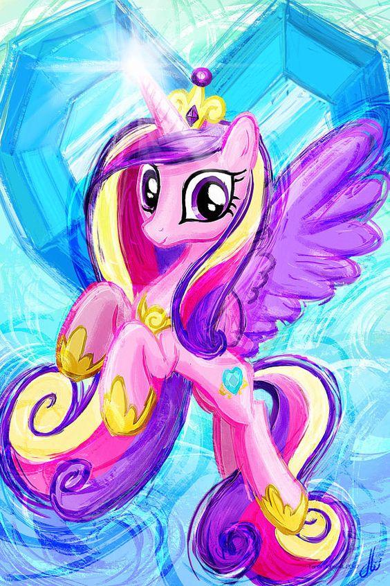 Cadencia princesa  mi pequeño Pony es Magic Art Print Poster