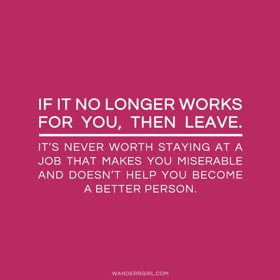 This is so true. My current job has drained any life left in me. I hate being there so much that it ruins my day to know I have to go back.
