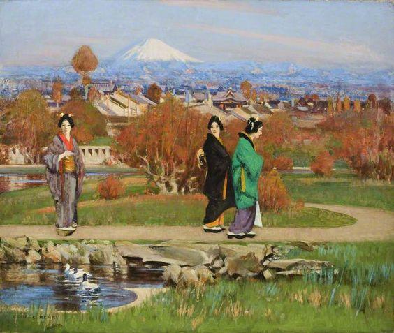 George Henry (1858-1943) In a Tokyo Garden, 1895