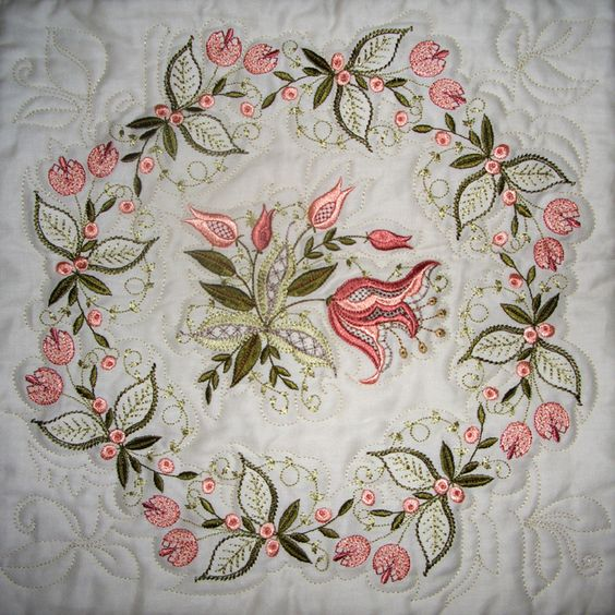 Jacobean embroidery designs and on
