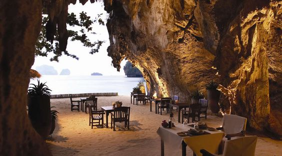 Restaurante en Rayavadee Resort, Tailandia #HotelesDelMundo #HotelesFantasticos