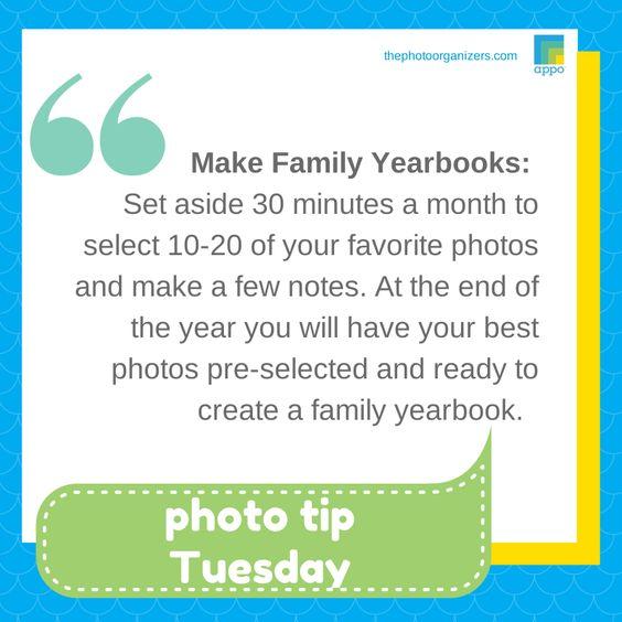 #phototiptues  Make Family Yearbooks to capture your #photomems @thephotoorganizers