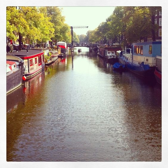 Beautiful Amsterdam #amsterdam #canals #water #houseboat #floating #boat