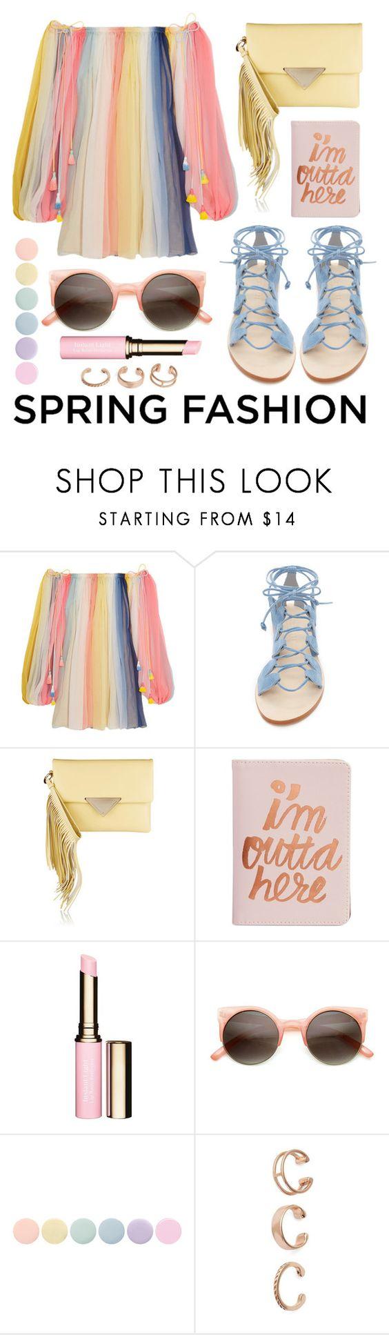 """Spring Dress Fashion"" by stacey-lynne ❤ liked on Polyvore featuring Chloé, Cornetti, Sara Battaglia, ban.do, Clarins, Deborah Lippmann and Kendra Scott"