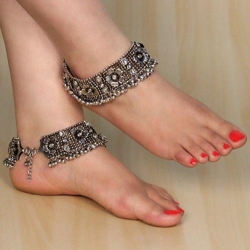 Ornate Ankle Bracelets   Indian Jewelry
