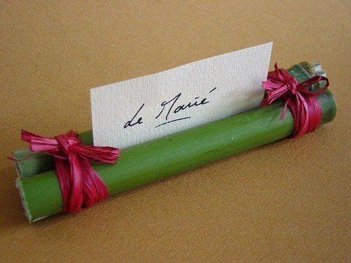 Notre mariage 24 mai 2008.....Thème bambou - Porte nom